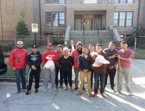 "Pi Chapter Continues Traditions of ""Pi Giving Dinner"" and Feeding Local Community"
