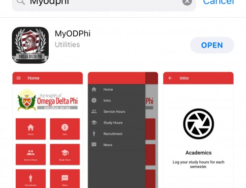 MyODPhi on iOS and Android
